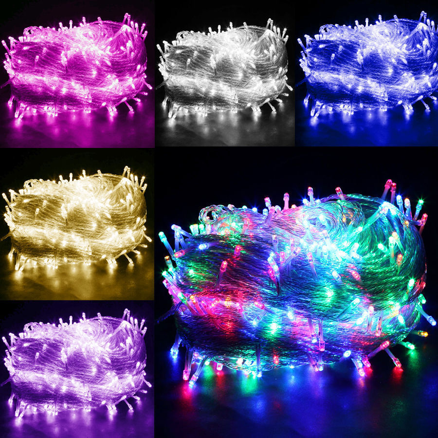 led weihnachtslichterkette lichterkette innen kette leuchte deko partykette mwst ebay. Black Bedroom Furniture Sets. Home Design Ideas